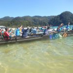 OC12 waka leaving Anchorage, Abel Tasman National Park